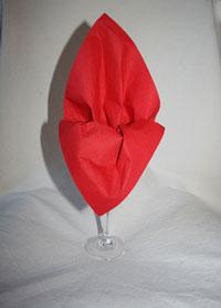 Pliage serviette l 39 closion - Pliage serviette verre ...
